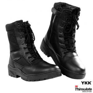 FOSTEX PR. SNIPER BOOTS WITH YKK ZIPPER – Zwart Militaire schoenen