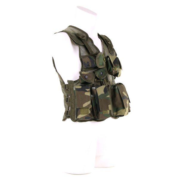 , Fostex Garments – KINDER TACTICAL VEST Woodland, deDump.nl