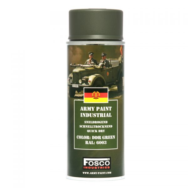 , Fosco SPUITBUS LEGER VERF 400 ML. DDR Groen, deDump.nl