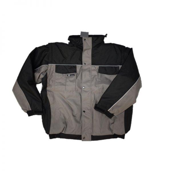 , KM Workwear Werkjack Km grijs/zwart met afritsbare mouw, deDump.nl