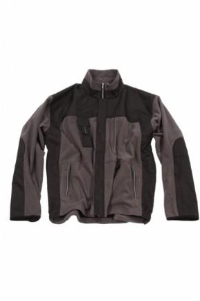 , KM Workwear Technisch Fleecejack grijs/zwart, deDump.nl