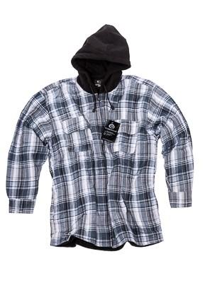 , KM Workwear Thermo shirt fleece voering en fleece capuchon, deDump.nl
