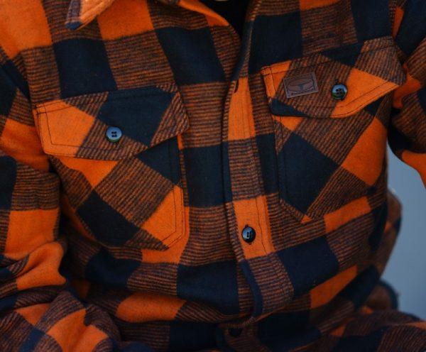 , Fostex HOUT HAKKERS HEMD DIK Zwart Oranje, deDump.nl