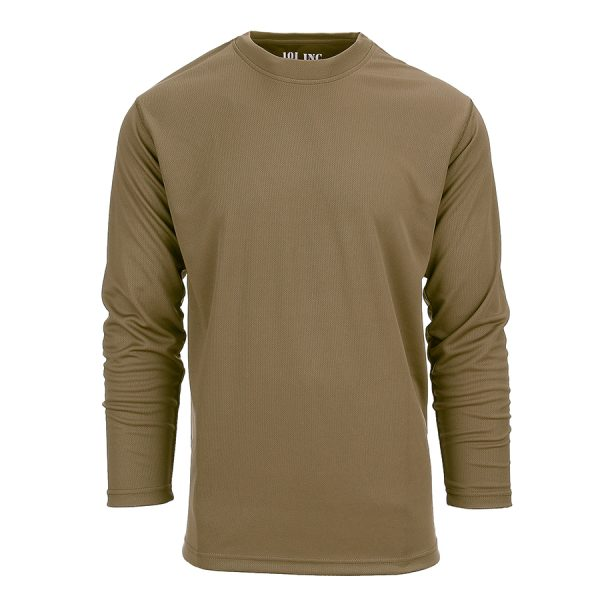 , 101 INC Tactical t-shirt Quick Dry lange mouw Coyote, deDump.nl