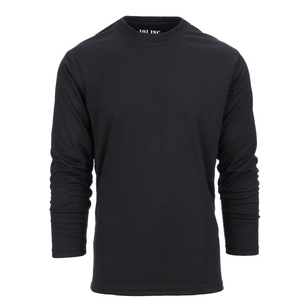 , 101 INC Tactical t-shirt Quick Dry lange mouw Zwart, deDump.nl
