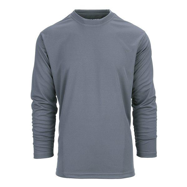 , 101 INC Tactical t-shirt Quick Dry lange mouw Wolf Grey, deDump.nl