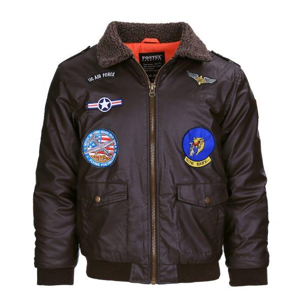 , Fostex Kinder flight jacket PU leder, deDump.nl