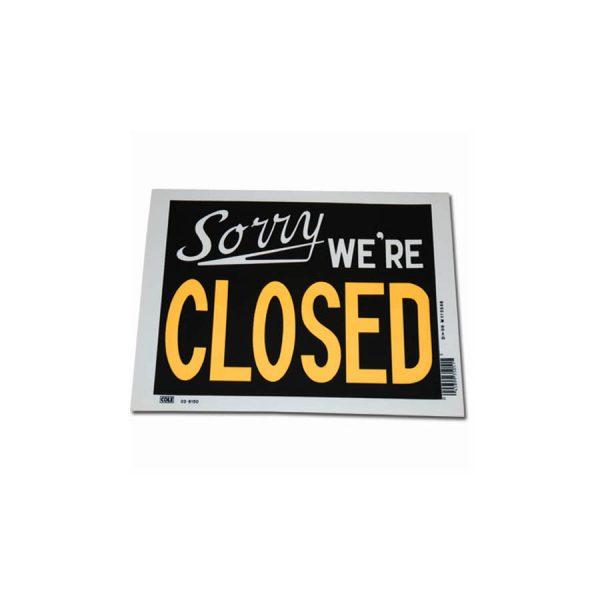 , Plastic plaat groot sorry we're closed #7163, deDump.nl