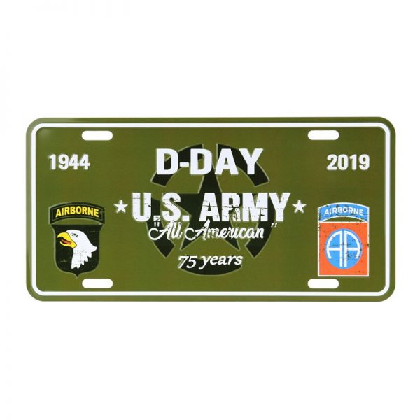 , Nummerplaat D-Day U.S. Army, deDump.nl