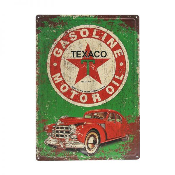 , Metalen plaat groot #105 Texaco, deDump.nl