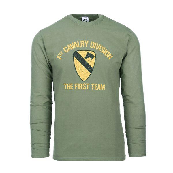 , Fostex T-shirt First Cavalry Division lange mouw, deDump.nl