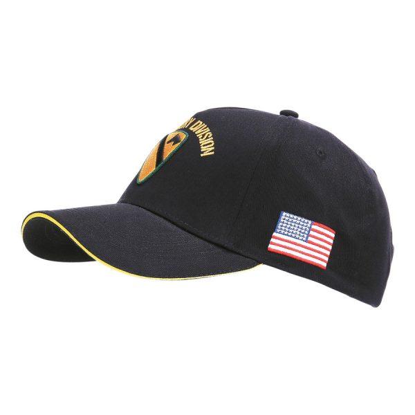 , Fostex Baseball cap US Cavalry WWII 3D Zwart, deDump.nl