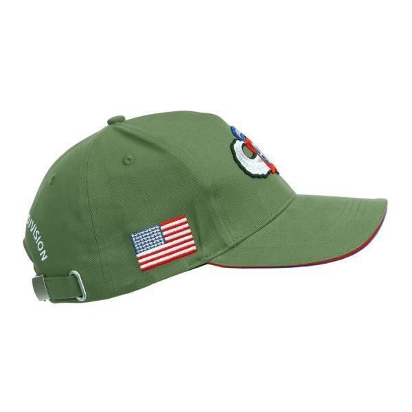 , Fostex Baseball cap 82nd Airborne WWII 3D Groen, deDump.nl