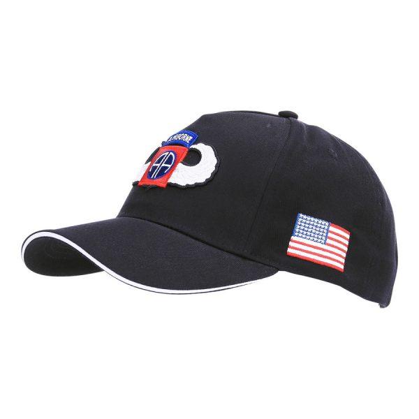 , Fostex Baseball cap 82nd Airborne WWII 3D Zwart, deDump.nl