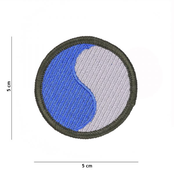 , Embleem stof 29th US Infantry Division #1080, deDump.nl