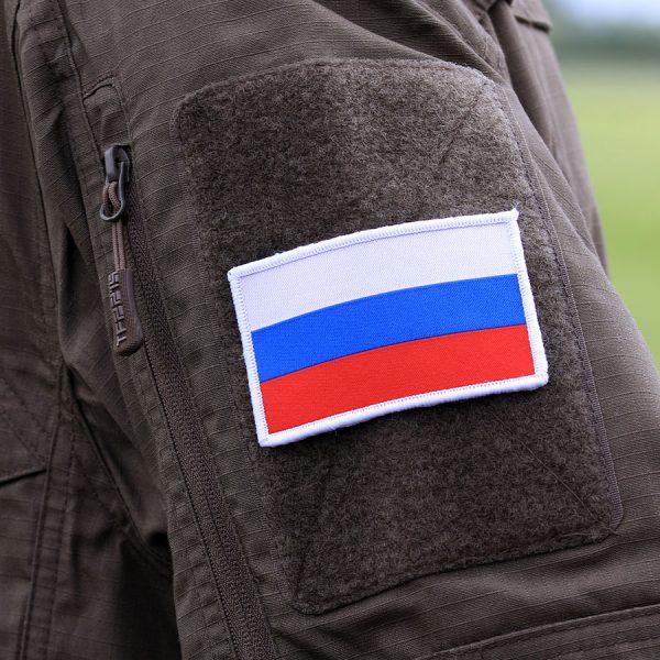 , Fostex Embleem stof fijn geweven vlag Rusland #7133, deDump.nl