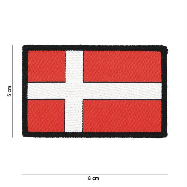 , Fostex Embleem stof fijn geweven vlag Denemarken #7134, deDump.nl