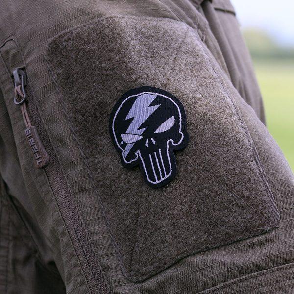 , Fostex Embleem stof fijn geweven Punisher thunder (klein) #7137, deDump.nl