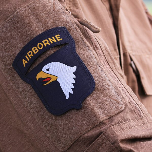 , Fostex Embleem stof fijn geweven 101st. Airborne #7139, deDump.nl