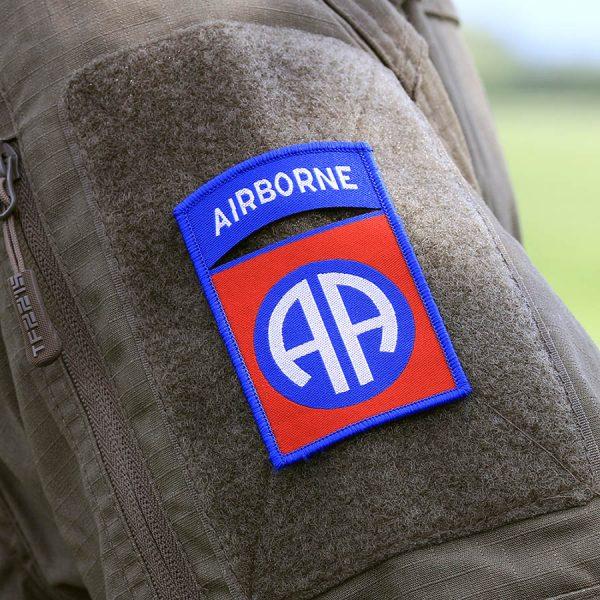 , Fostex Embleem stof fijn geweven 82nd Airborne #7140, deDump.nl
