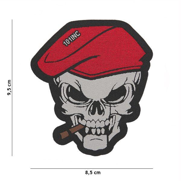 , Fostex Embleem stof fijn geweven Skull sigaar #7142, deDump.nl
