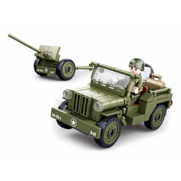 , Sluban Allied jeep with Anti-Aircraft guns M38-B0853 #16140, deDump.nl