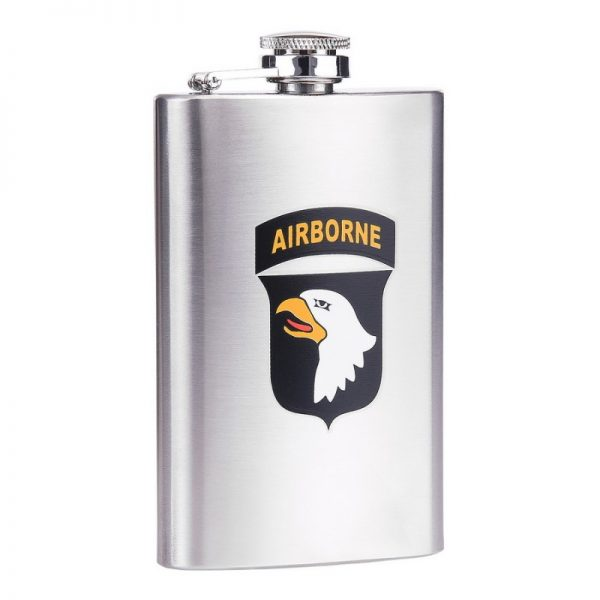 , Fostex Zakfles 5 ounce 101st Airborne RVS, deDump.nl