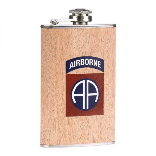 , Fostex Zakfles 5 ounce 82nd Airborne hout look, deDump.nl