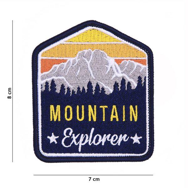 , Fosco Embleem stof Mountain Explorer #23001, deDump.nl