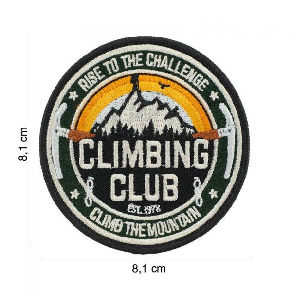 , Fosco Embleem stof Climbing Club #23003, deDump.nl