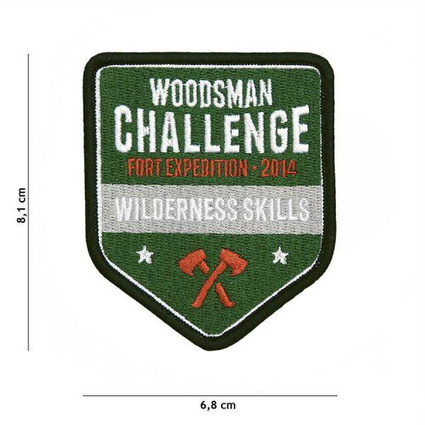 , Fosco Embleem Stof Woodsman Challenge #23004, deDump.nl