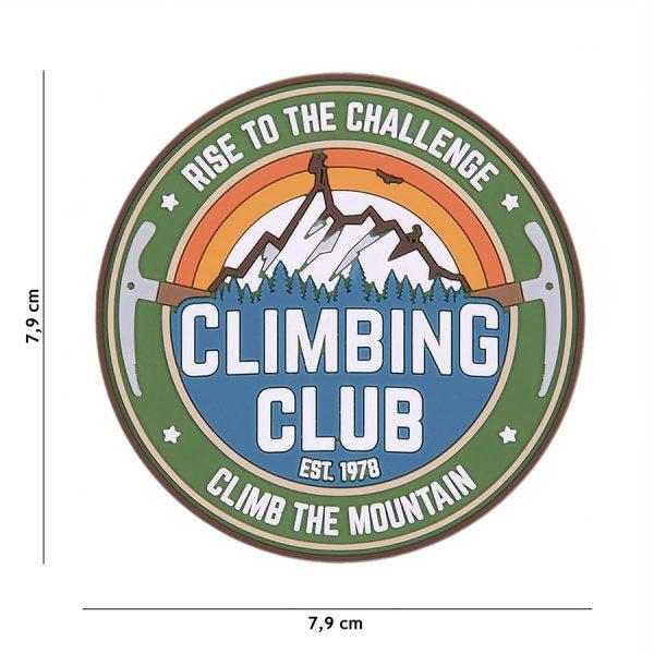 , Fosco Embleem 3D PVC Climbing Club #23008, deDump.nl