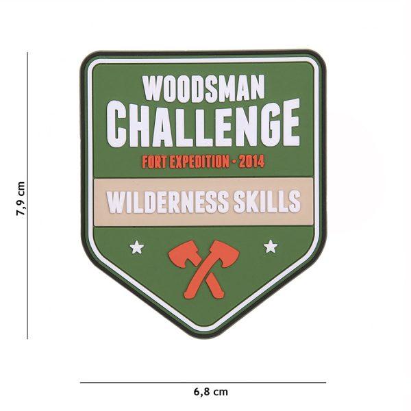 , Fosco Embleem 3D PVC Woodsman Challenge #23009, deDump.nl