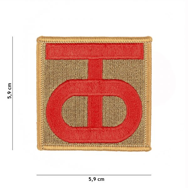 , Embleem stof 90th US Infantry Division WWII #3051, deDump.nl