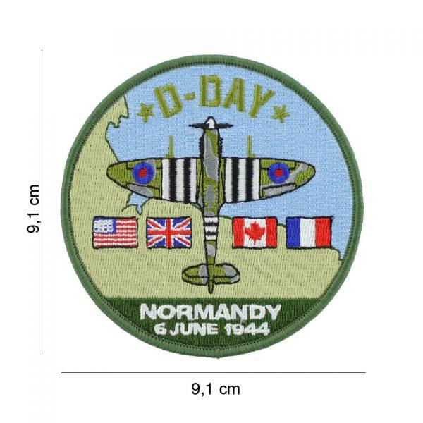 , Embleem stof D-Day Spitfire #19077, deDump.nl