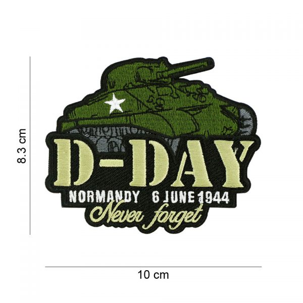 , Embleem stof D-Day Sherman #19088, deDump.nl