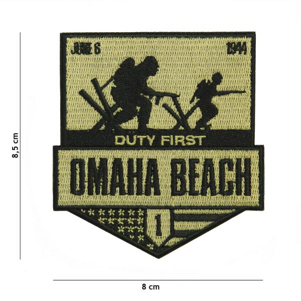 , Embleem stof Omaha Beach #20005, deDump.nl