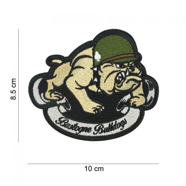 , Embleem stof Bastogne Bulldogs #20007, deDump.nl