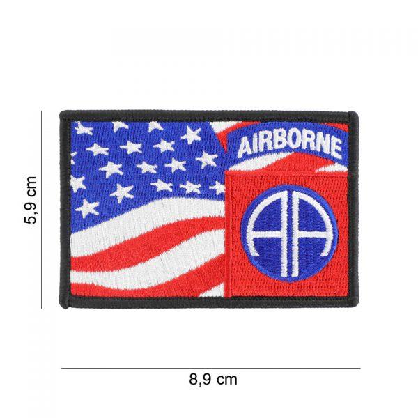 , Embleem stof 82nd Airborne vlag #19084, deDump.nl