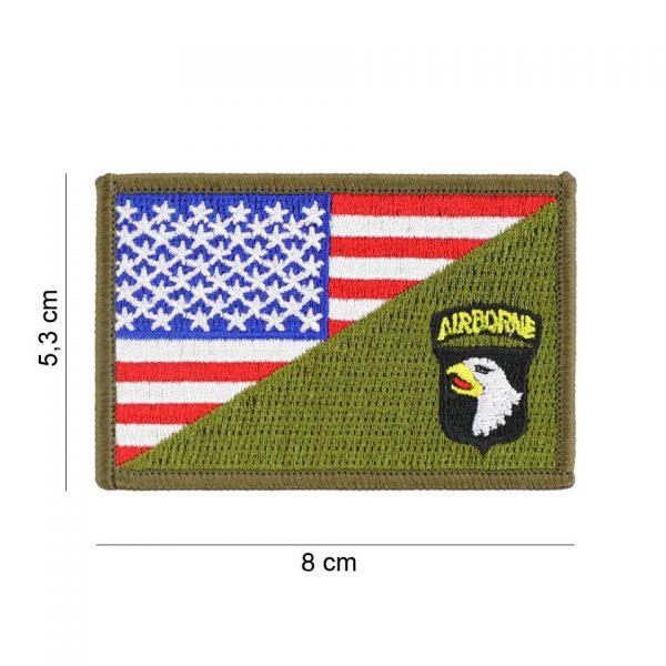 , Embleem stof 101st Airborne halve vlag #20011, deDump.nl