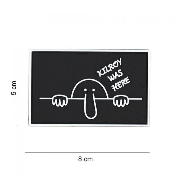 , Embleem 3D PVC Kilroy was here zwart #8071, deDump.nl