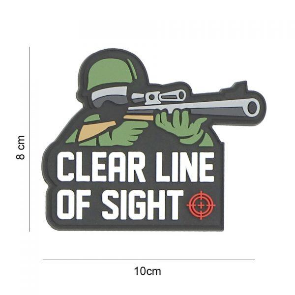, Embleem 3D PVC Clear line of sight #8089, deDump.nl