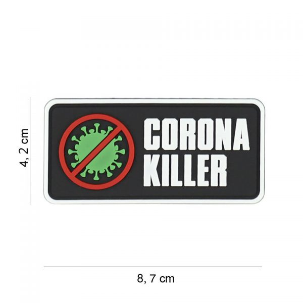 , Embleem 3D PVC Corona killer #8090, deDump.nl