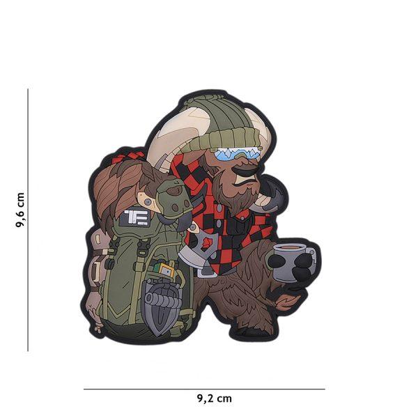 , TF-2215 Embleem 3D PVC Bushcraft Ox Nr.2 #23012, deDump.nl