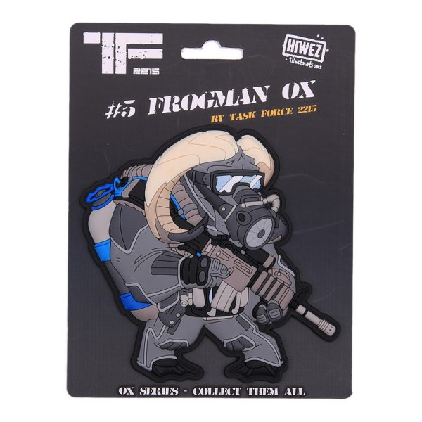 , TF-2215 Embleem 3D PVC Frogman Ox Nr.5 #23015, deDump.nl