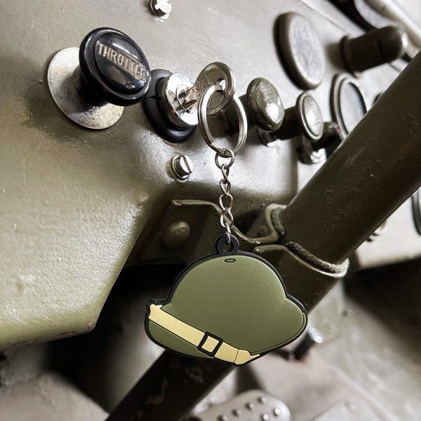 , Sleutelhanger 3D PVC Brodie Helmet WWII #117, deDump.nl
