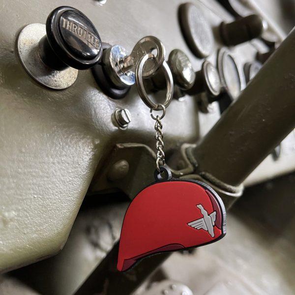 , Sleutelhanger 3D PVC 1st Airborne Baret WWII #116, deDump.nl
