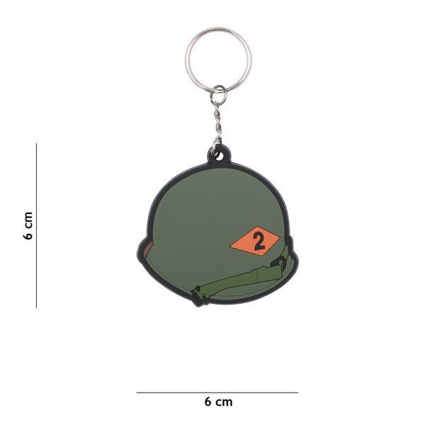 , Sleutelhanger 3D PVC 2nd Ranger Helmet WWII #115, deDump.nl