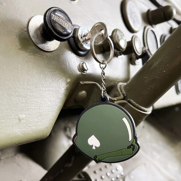 , Sleutelhanger 3D PVC 506PIR Helmet WWII #113, deDump.nl