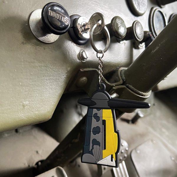 , Sleutelhanger 3D PVC BF-109 Messerschmitt #109, deDump.nl